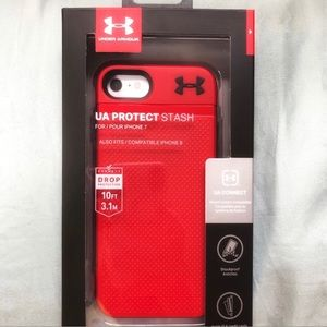 Under Armour Red & Black iPhone 8/7/6/6s Case NIB